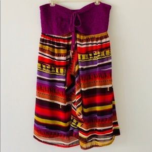 Lane Bryant Multi Colored Tube Top Dress SZ 14/16